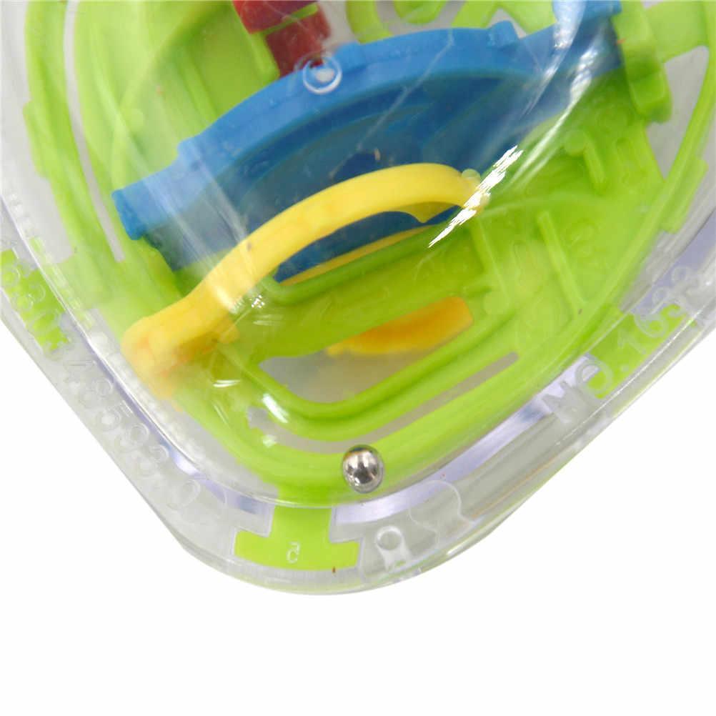 3d cubo mágico intelecto labirinto bola coração mágico cubo brinquedos 3d metal puzzle bola brinquedos para crianças chave colar girador 1 pcs