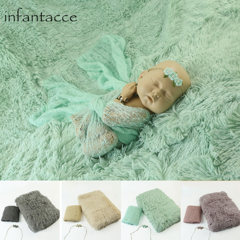 newborn photography props backdrops background blanket+mohair stretchy wrap+headband baby photo prop wraps blankets hairband baseus timk series black aubasetk 01