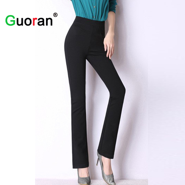 bf5c2a2c638 High quality women classical business suit pants wide leg stretch office  ladies work pants plus size