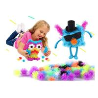 400pcs Set Assemble 3D Puzzle DIY Puff Ball Squeezed Creative Thorn Clusters Handmade Educational Toys Children
