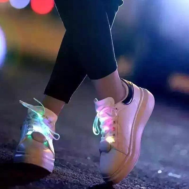 Mr.Niscar 1 Paar Leuchten Mode LED Luminous Schnürsenkel Nacht Flash - Schuhzubehör - Foto 2