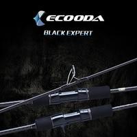 Ecooda Black Expert 1 Section 1.83m 1.9m Carbon Spinning Casting Lure Slow Jigging Fishing Rod Stick Cane FUJI Rotate Jig Rod