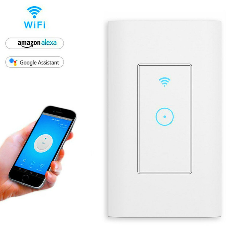 16A LED WiFi Touch Switch Smart Light Dimmer Wall For Alexa Google Home App Timing(160 Type)  CD306