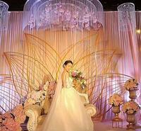 Свадебная церемония Железный художественный сценический экран фон свадебная церемония Арка дверной фон свадебная церемония Железный худо