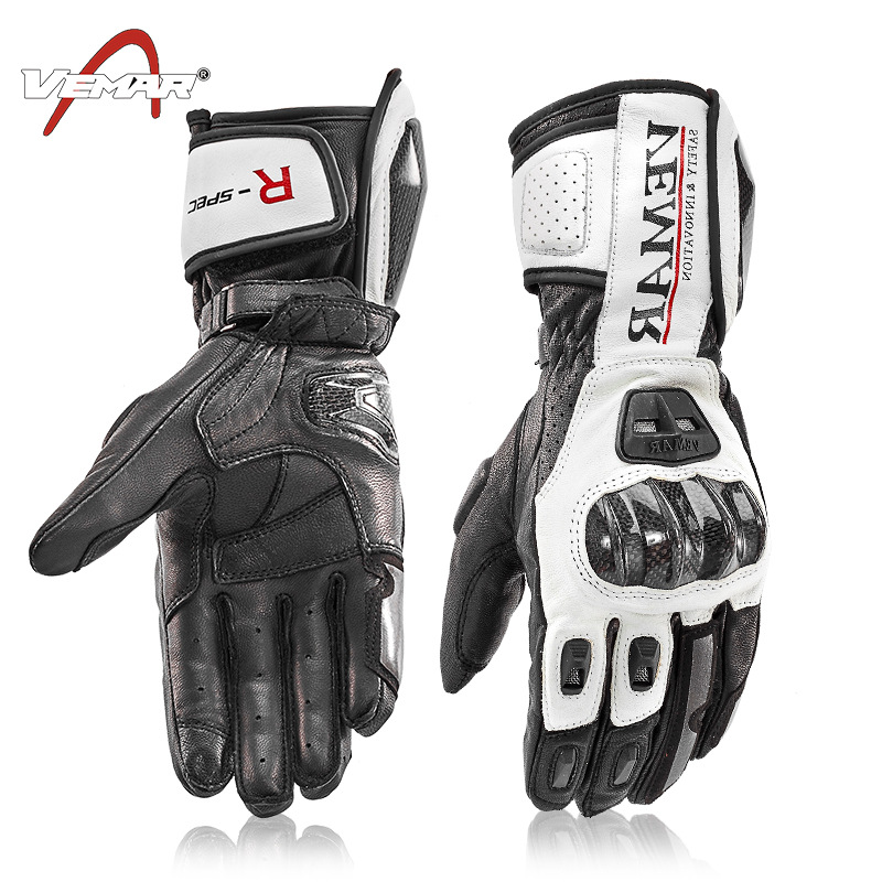 VEMAR Carbon Fiber Touch Screen Breathable Motorcycle Gloves Leather Glove Men Cycling Racing Guantes Moto Motorbike Luvas  XXL утюг marek утюг ma 011