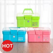 High quality layered storage box outdoor portable medicine box durable first aid case storage box storage handle suitcase