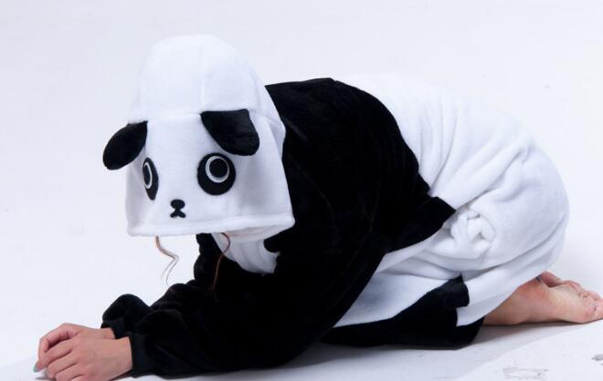 Cizgi film heyvanı birləşdirilmiş Panda pijama Unisex Animal - Karnaval kostyumlar - Fotoqrafiya 2