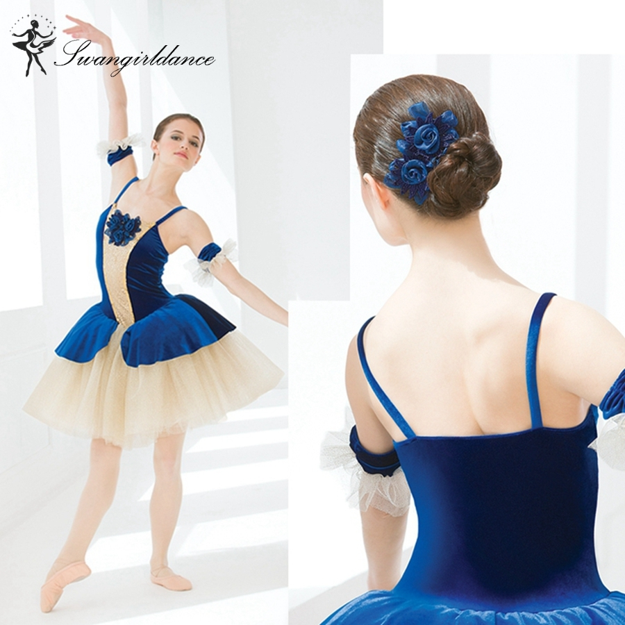 adult royal  blue romantic ballerina dress girls giselle stage performance tutu dance costume dress women BL0009-in Ballet from Novelty & Special Use    1
