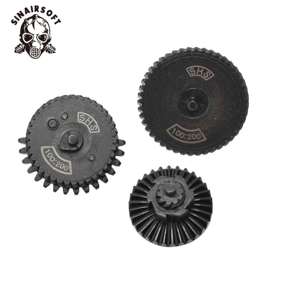 SINAIRSOFT SHS 100:200 Reinforcement Helical Super Torque Gear Set For Ver.2/3 AEG Gearbox Hunting Accessories