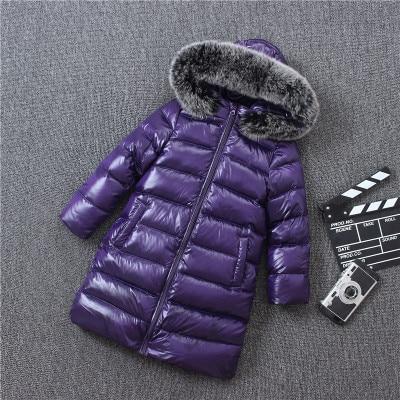 купить Children Winter White Duck Down Jacket Boys Girls Natural Fur Collar Coats Kids Warm Outerwea по цене 3762.32 рублей