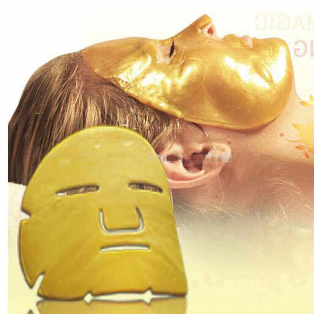 1 יחידות טיפוח עור לחות מיצוק שחור וזהב ביו קולגן קרם מסיכת פנים לחות ההלבנה אנטי אייג 'ינג עור תיקון