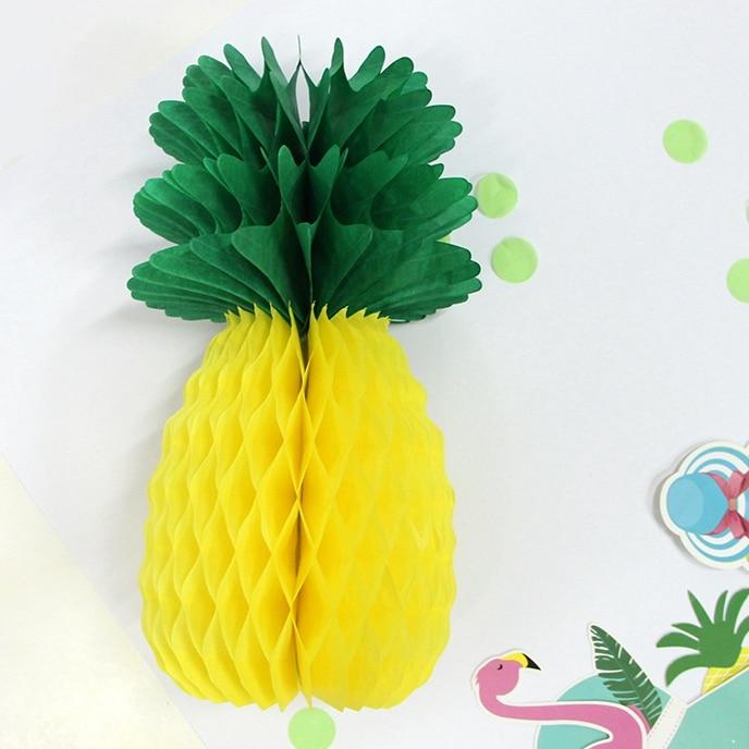 Partidul de Ananas Ananas Forma Fagure Decorare Ananas Ghirlanda Mesaj Centerpiece Honeycomb Hârtie Fructe BEACH LUAU PARTY