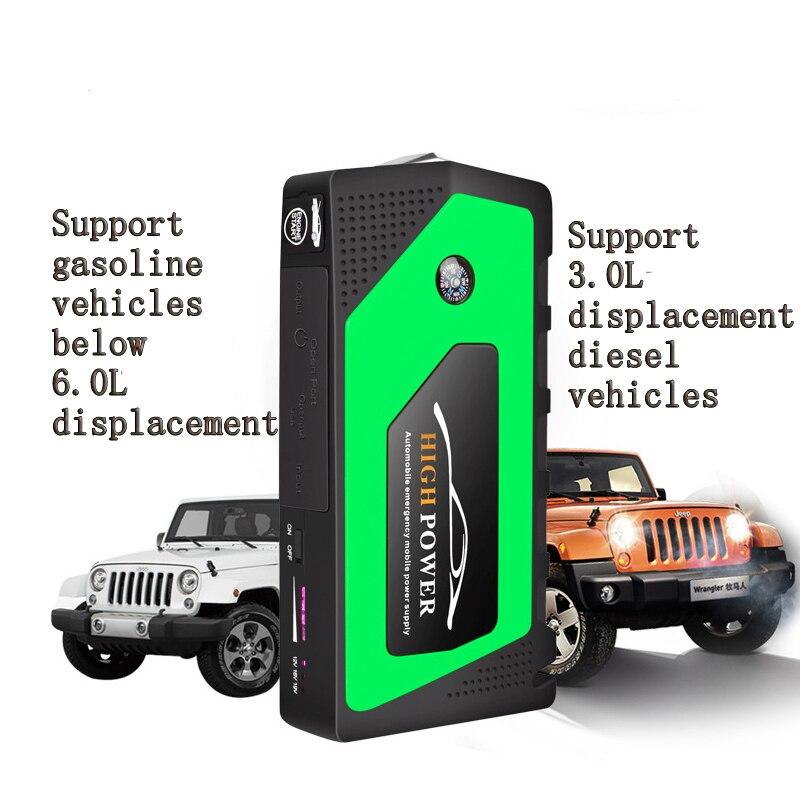 Démarreur de saut de voiture de preuve de l'eau 16800 mAh 400A crête batterie externe Portable démarrage de lampe de poche LED chargeur de batterie automatique de démarreur