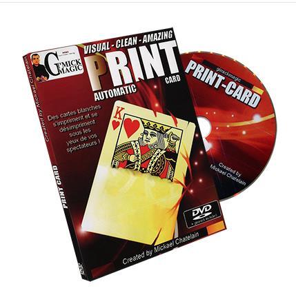 Imprimer Carte (Gimmick + DVD) par Mickael Chatelain-Trick Rue accessoires de Magie Illusions Close up Magie Plaisir Magicien Magia Jouets L'esprit