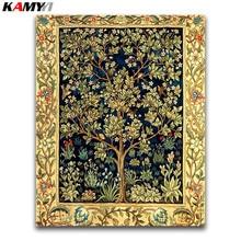 5D Diy diamond painting cross stitch Money Tree Full Round Diamond embroidery Lucky plant full Mosaic Golden flowers #