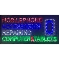 CHENXI Новое поступление аксессуары для мобильных телефонов ремонт компьютеров и планшетов бизнес магазин знак Led Крытый 80X40 см без анимирован
