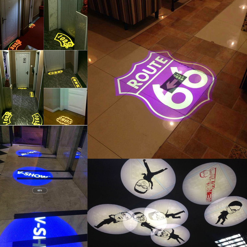 advertising image projections lamp light Logo rotate Advertising LED Customized Indicate Sign Instruct Waterproof IP65 Projector in Advertising Lights from Lights Lighting