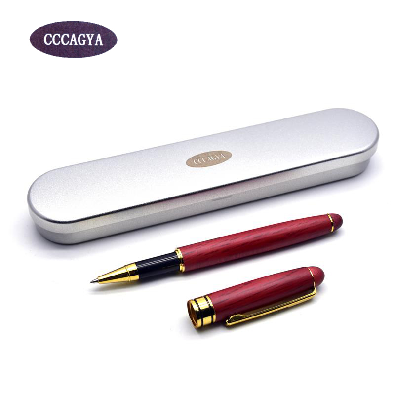 CCCAGYA A022 new red Wooden Material classic high-quality ballpoint pen Office & School Pens, Pencils Writing Woody Gift Pen
