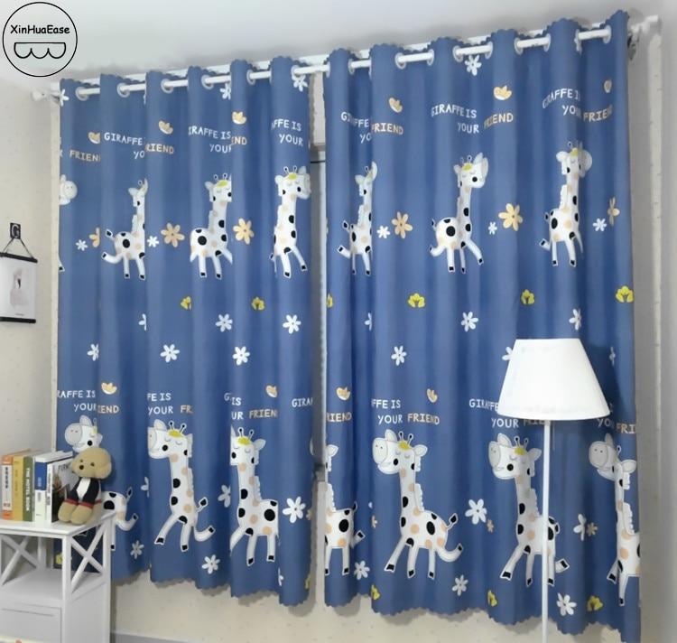 Us 11 82 18 Off Xinhuaease Curtains In The Nursery Curtain For Kindergarten Bedroom Children Living Room School Window Short Kids