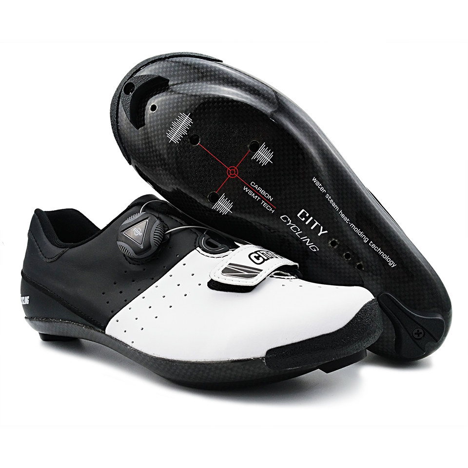 3K Carbon Fiber Cycling Road Shoes Heatmoldable Breathable Profesional Self Locking Racing Bike Shoes Bicycle Sneakers