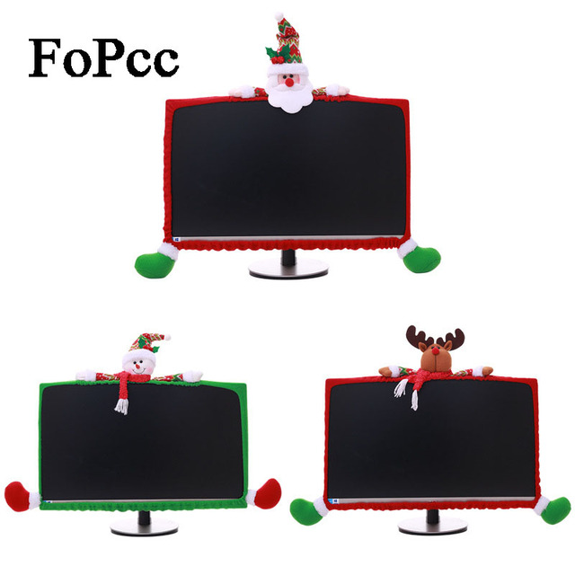2019 Cute Stereo Cartoon Computer Covers  Non-woven Computer Dress Up New Year Christmas Decorations For Home Ornaments Decor