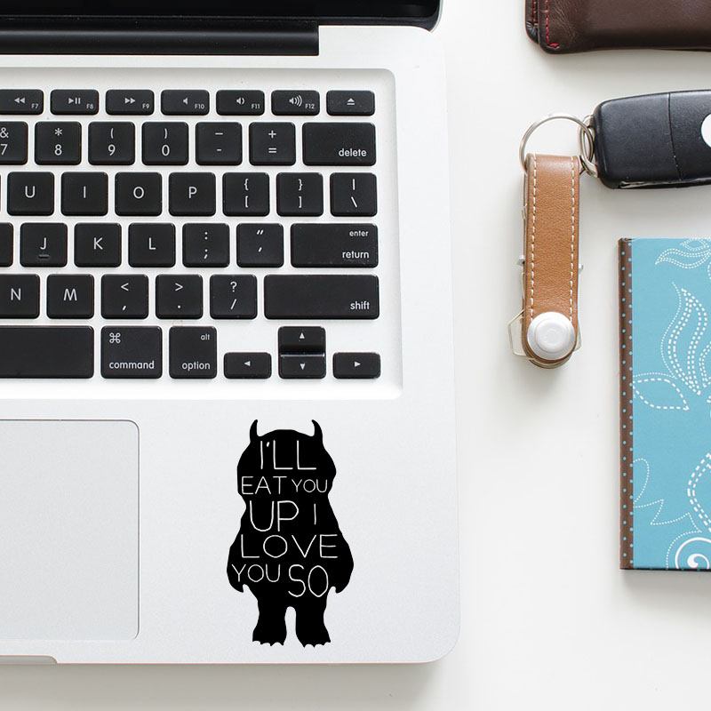 Cute Little Devil Trackpad Decal Laptop Sticker for Apple Macbook Pro Air Retina 11 12 13 15 inch Mac HP Notebook Touchpad Skin