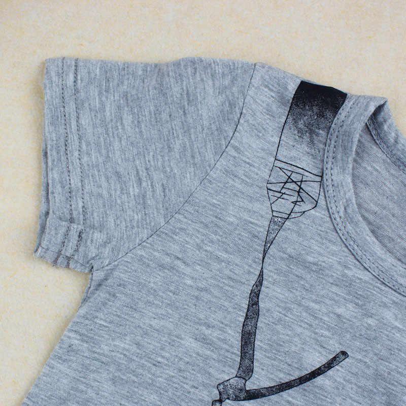 2019 אופנה חדשה חם קיץ פעוט ילדים בני בגדים מזדמנים 3D מצלמה צמרות חולצות קצר שרוול חולצה באיכות גבוהה