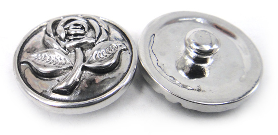 MOODPC Free drop shipping 1.8-2cm alloy flower design charm DIY button metal charms