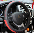 Car cowhide leather steering wheel cover 38CM used for 2014-2016 Suzuki SX4 S cross