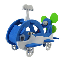 Science and Technology Small-scale Production of Childrens Toys Wooden Aircraft MaterialAssemble DIY Dynamics Educa