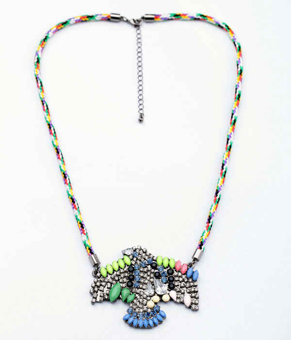 KISS ME New Styles 2013 Fashion Jewelry Braided rope Eagle Pendant Fashion Necklace