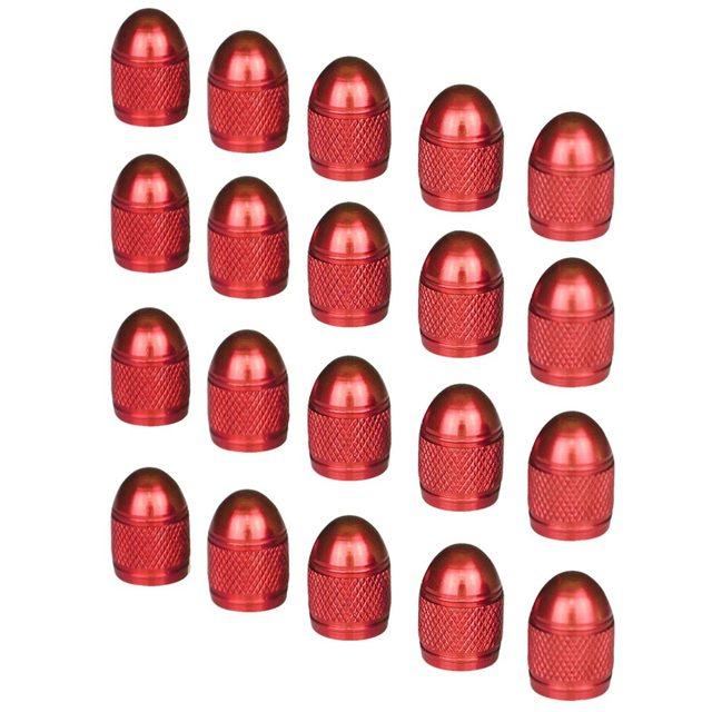 Авто-круто короткие Стиль анодированного поверхности Клапан стволовых Caps колеса автомобиля Колпачки клапанов (красный, 20 шт.)