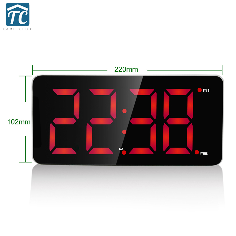 Friendly Lcd Digital Date Alarm Clock Snooze Thermometer Table Desktop With Night Light Durable Modeling Measurement & Analysis Instruments