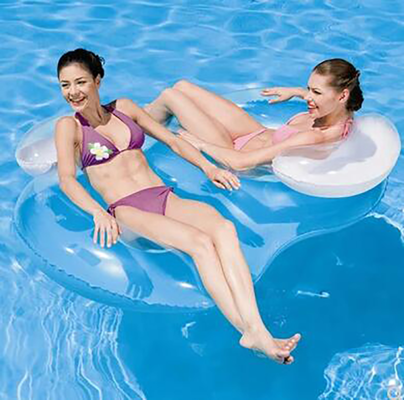 Courbe gonflable huit Couples anneau de natation épaissir tapis flottant lumière du soleil flottant lit d'eau piscine jouets 188*117 CM femmes adultes