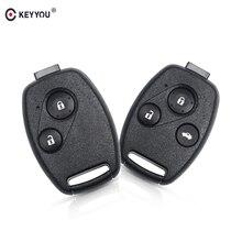 KEYYOU 2/3 Buttons Remote Car Key Shell Head For Honda Accord Civic CRV Pilot 2007 2008 2009 2010 2011 2012 2013
