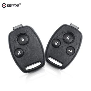 KEYYOU 2/3 Buttons Remote Car Key Shell Head For Honda Accord Civic CRV Pilot 2007 2008 2009 2010 2011 2012 2013(China)