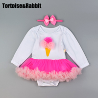 Baby S Clothes Set With Headbands Organic Cotton Baby Girl Bodysuits Tutu Sets Infant Overall Cartoon