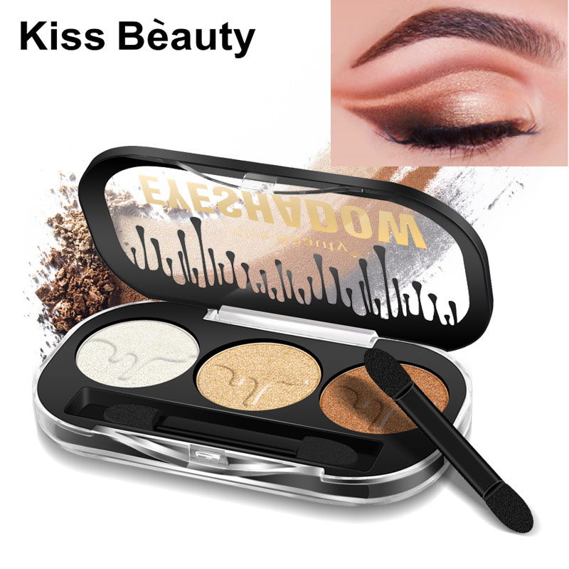 Beauty Essentials Kiss Beauty Flash Shimmer Eyeshadow Powder Pigment Gold Silver Blue Green Waterproof Long Lasting Glitter Eyeshadow Kb025 Beauty & Health