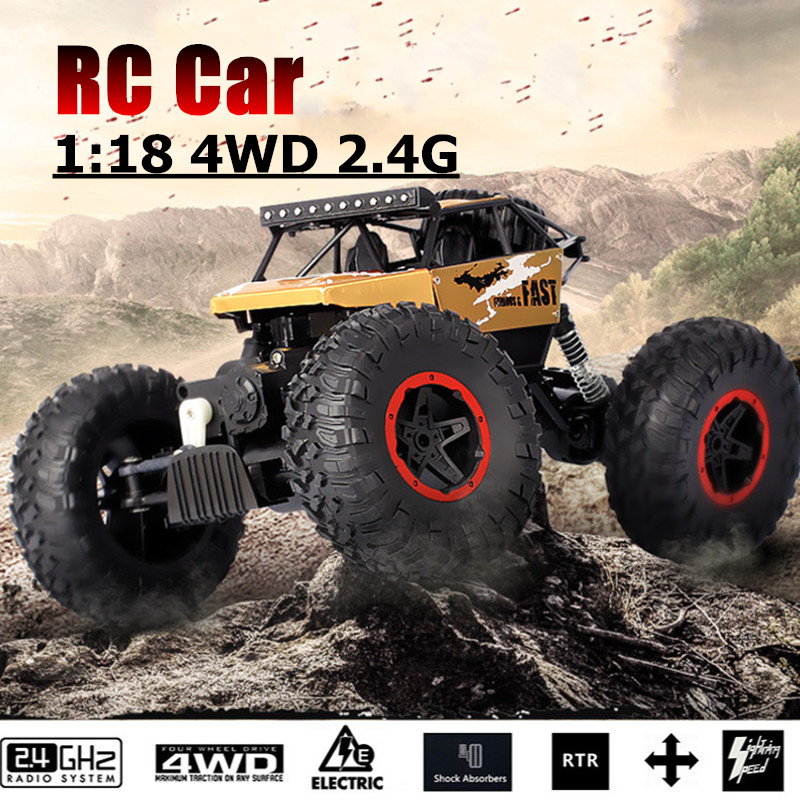 1/18 4WD 2.4G Radio High Speed Radio Remote Control RC RTR Racing Buggy Crawler Car Truck Off Road Gift Toy for Children Kid sunon dhl free shipping 4020 gm1204pkvx 8a 4cm 12v 2 4w 2wire server cooling fan