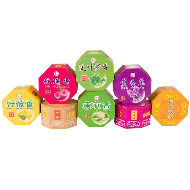 32pcs/box Bathroom Interior Bedroom Toilet Odor of Natural Perfume Aromatherapy Sandalwood Coil Incense Tibetan Incense