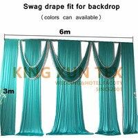 3 м x 6 м шелк льда драпировки для фона Swag valance с блестками ткань для фона украшения для свадебного занавеса