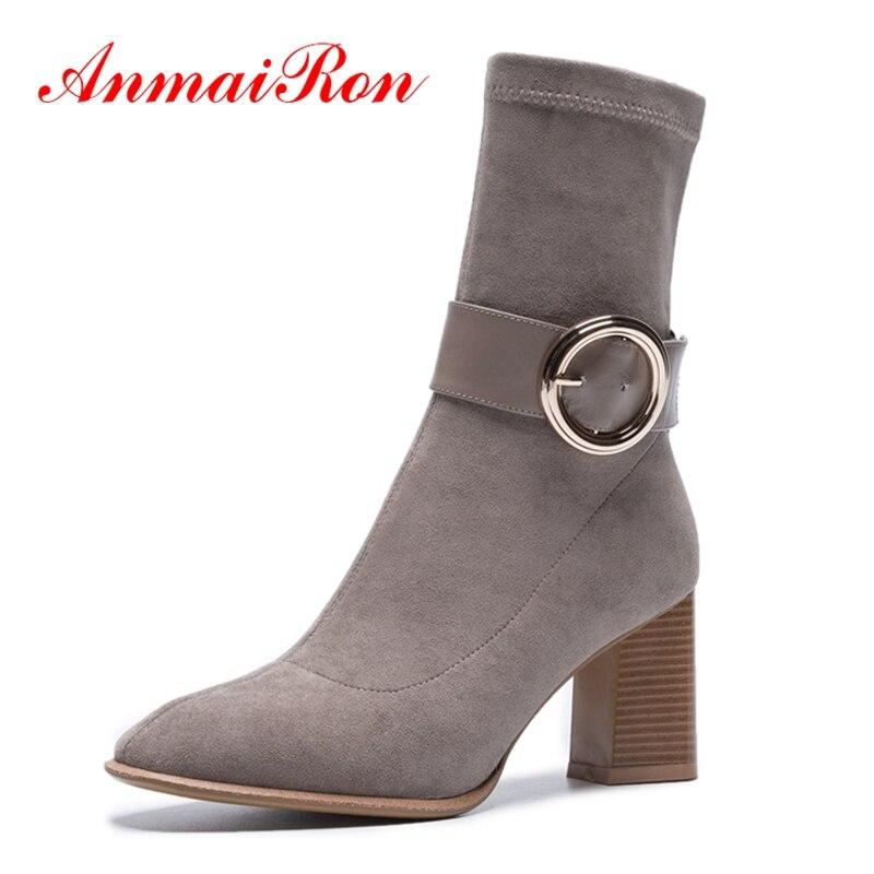 636d9c76 on Básica Invierno Anmairon Zyl1423 Tobillo Mujeres Zapatos Mujer Tamaño 39  Botas Black Pie Slip Del ...