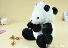 lovely panda toy stuffed bear and panda sitting plush panda birthday gift about 40cm