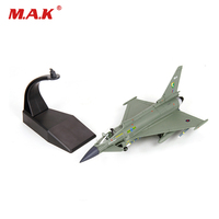 Collectible 1/100 Scale Alloy Diecast Typhoon Fighter EF 2000 Military Aircraft Plane Decoration Plane Model for Fans Gifts