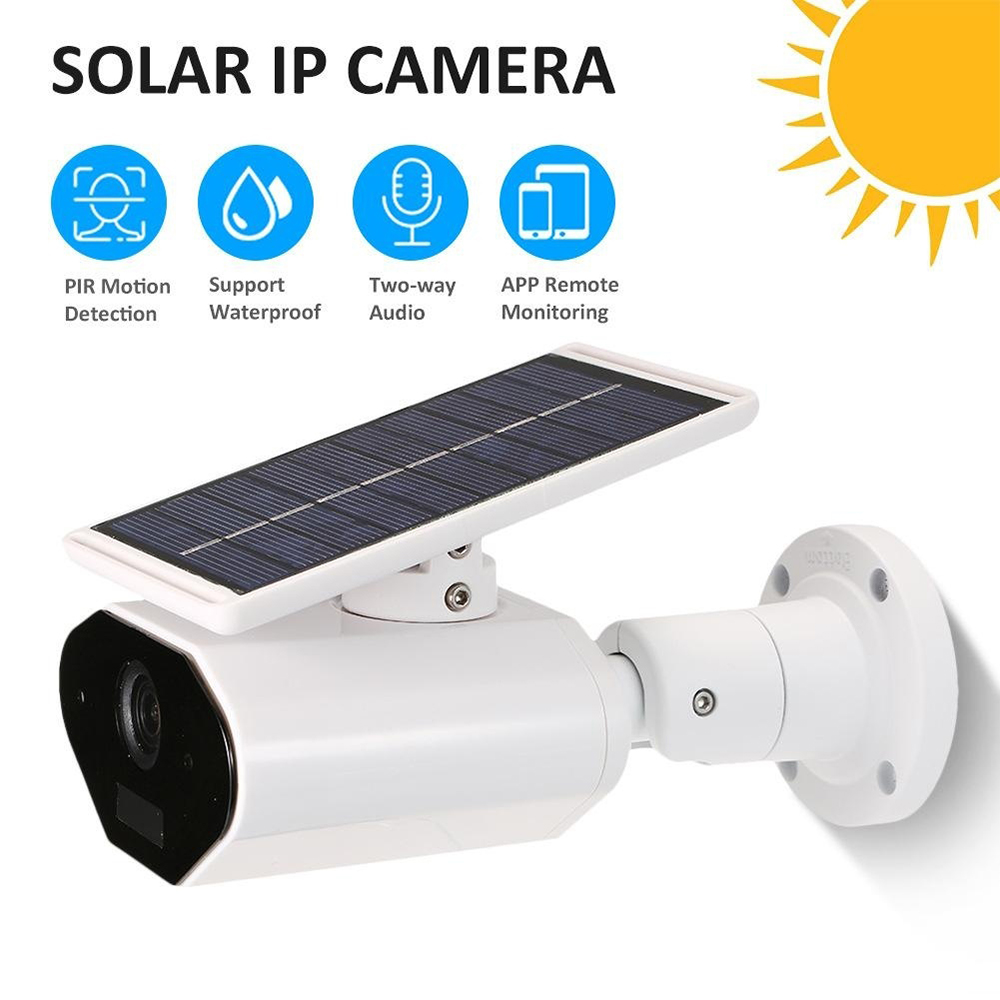 Security Surveillance Video IP Camera WiFi Recorder Solar Outdoor Waterproof Infrared Sensor PIR Detection HD Home Safety CameraSecurity Surveillance Video IP Camera WiFi Recorder Solar Outdoor Waterproof Infrared Sensor PIR Detection HD Home Safety Camera