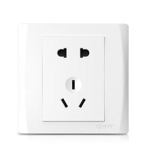 Image 1 - Enchufe de pared eléctrico para Xiaomi, placa frontal eléctrica AC250V 10A, 5 pines, toma de carga de 86x86mm, color blanco puro
