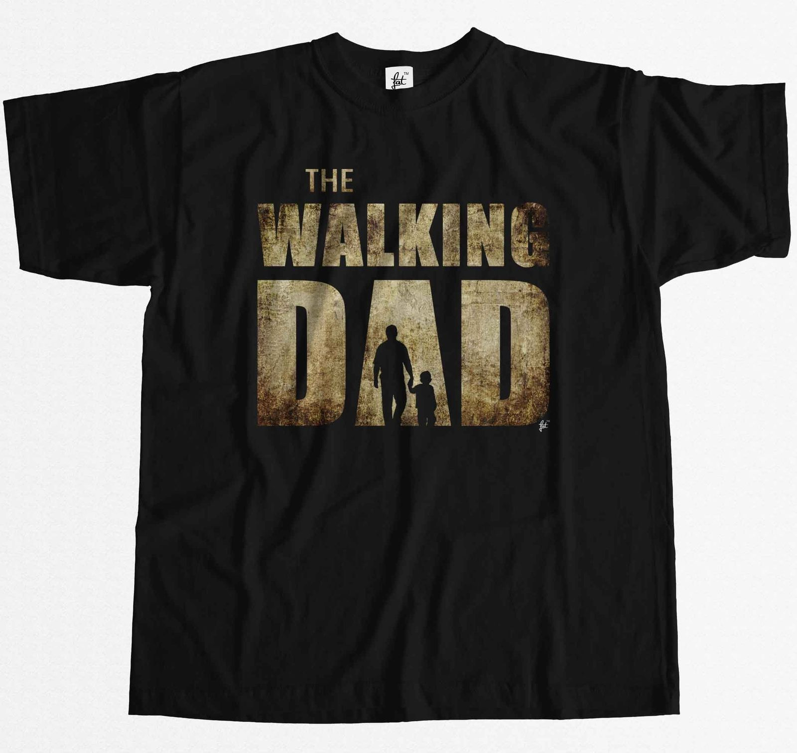 The Walking Dad Parody Father Son Fathers Day Mens T-Shirt New Men Cotton T-Shirt