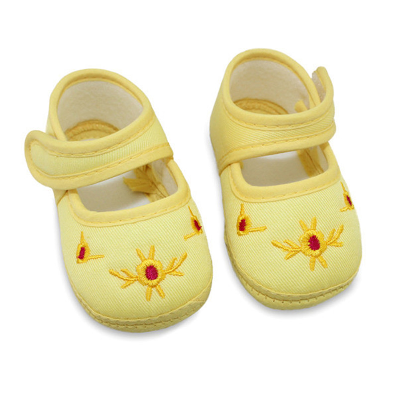 Soft Infant Baby Girls Shoes Cartoon Sole Anti-slip Toddler Crib Shoes Prewalkers 0-12 Months