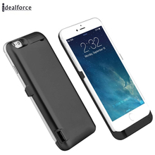 US/RU/FR/ES/DE/AU External Power bank Pack backup battery Charger Case For iphone 7 / 6 6S 8 Plus cases cover Black
