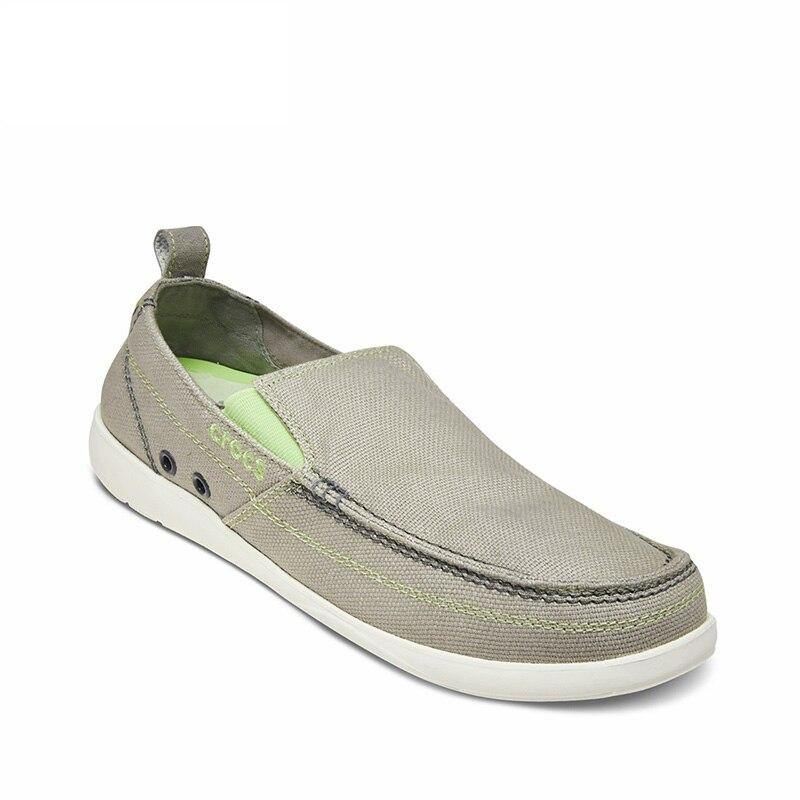 CROCS hommes printemps chaussures de marche appartements toile mocassins chaussures bas sans lacet baskets chaussures Crocs chaussures adultes